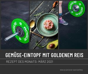 Blogbeitrag GEMÜSE-EINTOPF MIT GOLDENEM REIS-vegan-fitnessrezept